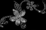 Helen Flower Garden Hair Comb | Swarovski Crystal - Beloved Sparkles  - 3