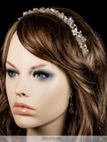 Eva Floral Pearl Gold Headband | Swarovski Crystal - Beloved Sparkles  - 3