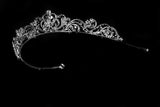 Brianna Romantic Royal Silver Tiara | Swarovski Crystal - Beloved Sparkles  - 3