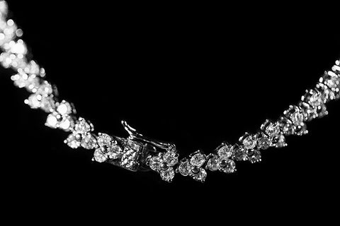 Nichelle Marquise Cluster Statement Necklace Set | Cubic Zirconia - Beloved Sparkles  - 2