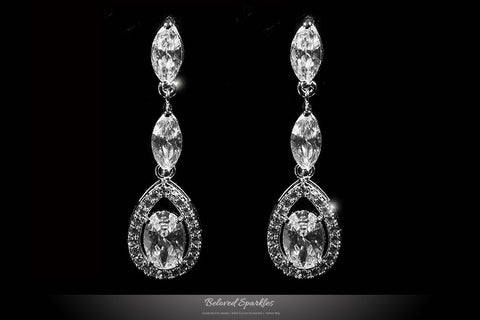 Amadela Vintage Teardrop Necklace Set | 80 Carat | Cubic Zirconia - Beloved Sparkles