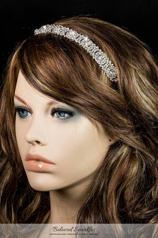 Amica Rhinestone Halo Cluster Stretchable Headband | Rhinestone - Beloved Sparkles  - 3