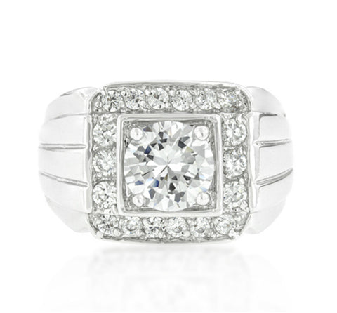 Edwin Pave Cubic Zirconia Men Ring | 3.5ct | Cubic Zirconia - Beloved Sparkles  - 3