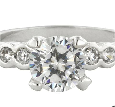 Monte Cristo  Solitaire Engagement Ring | 2ct | Cubic Zirconia - Beloved Sparkles