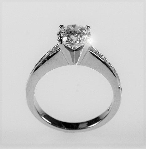 Neila Round Solitaire Engagement Ring | 2.5ct