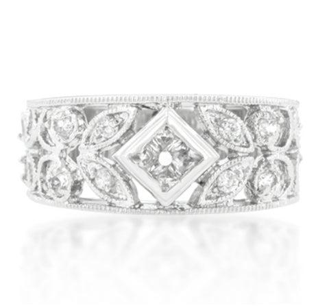 Spring Floral Cocktail Eternity Ring | 2 Carat | Cubic Zirconia - Beloved Sparkles  - 3