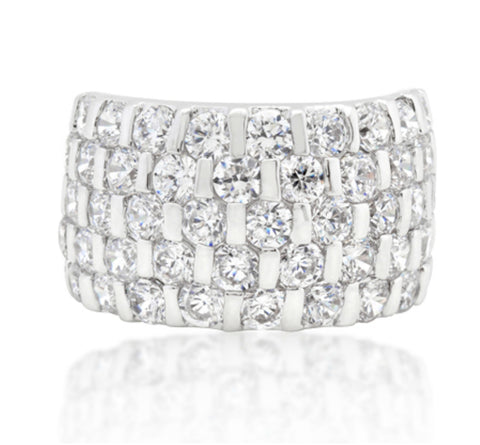 Shelby Channel Set Stacked Cocktail Ring | 9 Carat | Cubic Zirconia - Beloved Sparkles  - 3