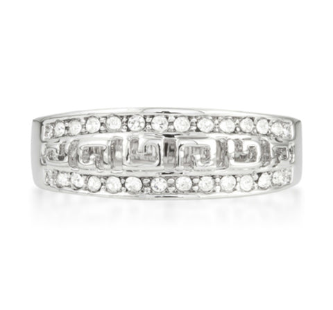 Talal Petite Art Deco Eternity Fashion Ring | 1 Carat | Cubic Zirconia - Beloved Sparkles  - 3
