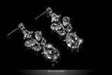 Salma Art Deco Cluster Chandelier Earrings | 14 Carat | Cubic Zirconia - Beloved Sparkles  - 2