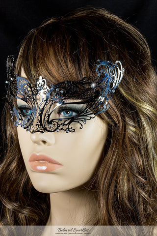 Liana Silver Metal Lace Masquerade Mask | Metal - Beloved Sparkles  - 3