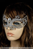 Cleo Art Deco Masquerade Mask | Crystal - Beloved Sparkles