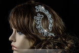 Lucia Art Deco Paisley Hair Comb Set | Crystal - Beloved Sparkles  - 4