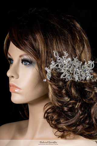 Karmala Garden Floral Spray Hair Comb | Swarovski Crystal - Beloved Sparkles  - 4