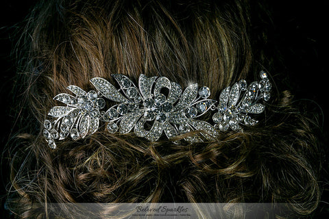 Tracey Ribbon Floral Hair Comb | Crystal - Beloved Sparkles  - 4