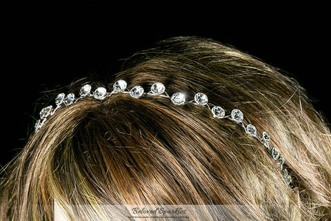 Nahia Solitaire Headband | Crystal - Beloved Sparkles  - 4