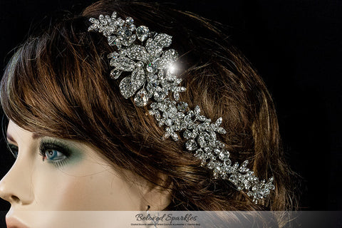 Lizabeth Ila Long Floral Cluster Hair Clip | Swarovski Crystal - Beloved Sparkles  - 4