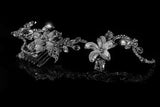 Helen Flower Garden Hair Comb | Swarovski Crystal - Beloved Sparkles  - 5