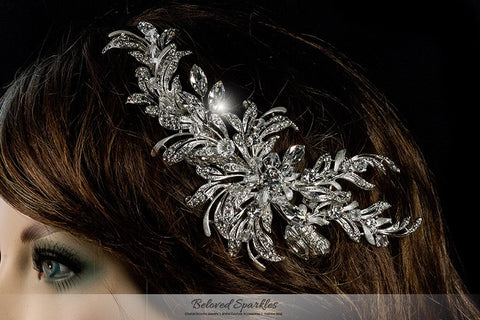 Loreta Romantic Cluster Hair Comb | Swarovski Crystal - Beloved Sparkles  - 4