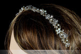 Eva Floral Pearl Gold Headband | Swarovski Crystal - Beloved Sparkles  - 4