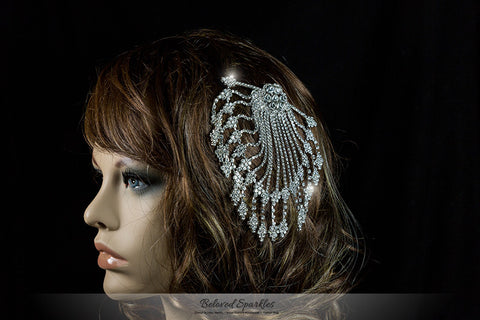 Jobellle Art Deco Drape Hair Comb | Rhinestone - Beloved Sparkles  - 4