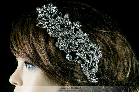 Betsy Bejeweled Floral Hair Comb | Crystal - Beloved Sparkles