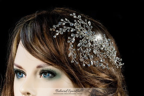 Kori Cluster Spray Hair Comb | Swarovski Crystal - Beloved Sparkles  - 5