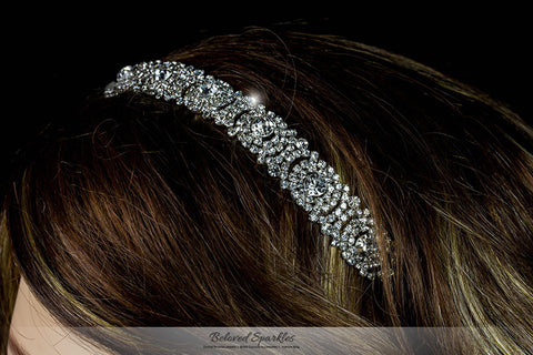 Amica Rhinestone Halo Cluster Stretchable Headband | Rhinestone - Beloved Sparkles  - 4