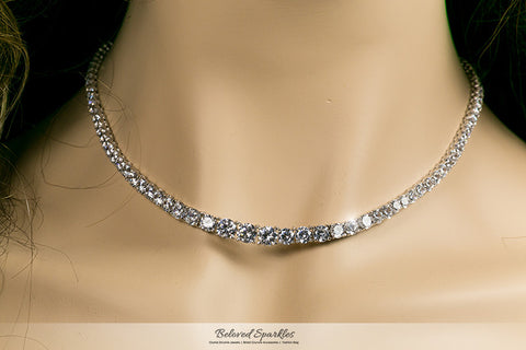 Jenna Classic Tennis Necklace Set | 36 Carat | Cubic Zirconia - Beloved Sparkles  - 4