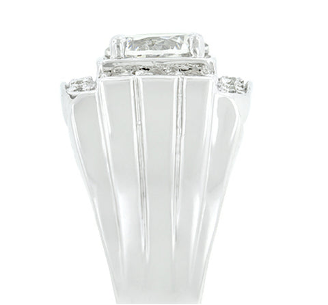 Edwin Pave Cubic Zirconia Men Ring | 3.5ct | Cubic Zirconia - Beloved Sparkles  - 4