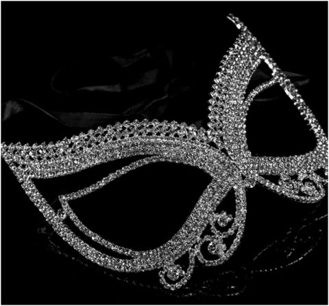 Pirene Exquisite Butterfly Masquerade Mask | Silver | Crystal - Beloved Sparkles  - 4