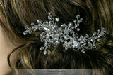 Helen Floral Spray Hair Clip | Swarovski Crystal - Beloved Sparkles  - 4