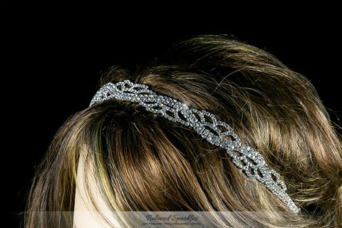 Panya Flower Petal Headband | Rhinestone - Beloved Sparkles  - 4