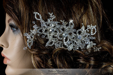 Karmala Garden Floral Spray Hair Comb | Swarovski Crystal - Beloved Sparkles  - 5
