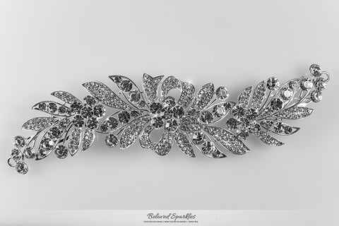 Tracey Ribbon Floral Hair Comb | Crystal - Beloved Sparkles  - 5