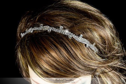 Emmy Crystal Stud Stretchable Headband | Rhinestone - Beloved Sparkles