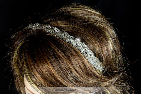 Dicey Rhinestone Twist Braid Stretchable Headband | Rhinestone - Beloved Sparkles  - 5