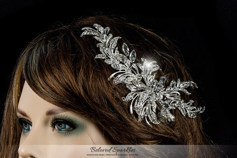 Loreta Romantic Cluster Hair Comb | Swarovski Crystal - Beloved Sparkles  - 5