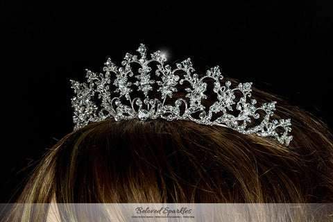 Lynette Vintage Filigree Tiara | Swarovski Crystal - Beloved Sparkles  - 5