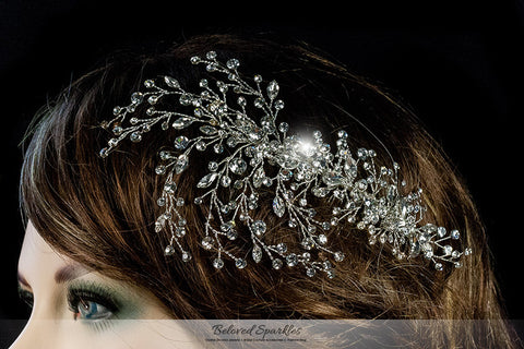 Kori Cluster Spray Hair Comb | Swarovski Crystal - Beloved Sparkles  - 4