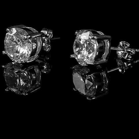 Christa Round Cut Stud Earrings – 5.7mm  | 1.3ct | Cubic Zirconia | Sterling Silver