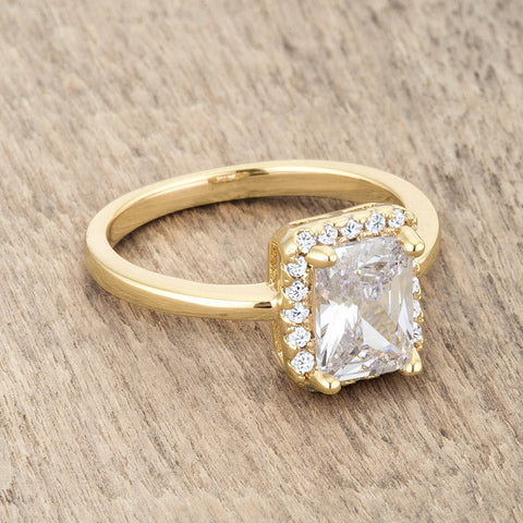 Mariane Vintage Inspired Radiant Cut Solitaire Engagement Ring | 2.5ct | 14k Gold | Cubic Zirconia - Beloved Sparkles  - 5