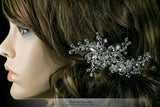 Helen Floral Spray Hair Clip | Swarovski Crystal - Beloved Sparkles  - 5