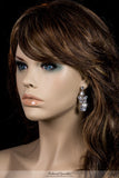 Salma Art Deco Cluster Chandelier Earrings | 14 Carat | Cubic Zirconia - Beloved Sparkles  - 3