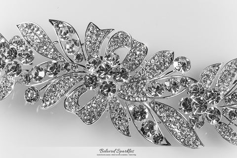 Tracey Ribbon Floral Hair Comb | Crystal - Beloved Sparkles  - 6