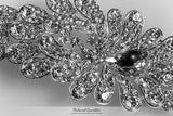 Daisey Bejeweled Floral Hair Comb | Crystal - Beloved Sparkles