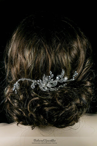 Trina Flower Twine Hair Comb | Swarovski Crystal - Beloved Sparkles  - 5