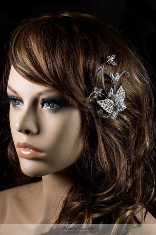 Moreen Butterfly Bloom Hair Clip | Swarovski Crystal - Beloved Sparkles