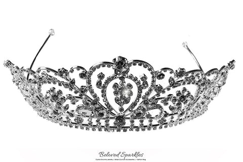 Lorelei Royal Statement Silver Tiara | Swarovski Crystal - Beloved Sparkles  - 6