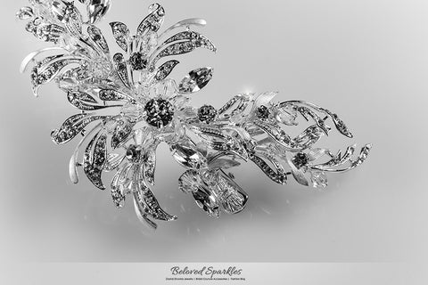 Loreta Romantic Cluster Hair Comb | Swarovski Crystal - Beloved Sparkles  - 7