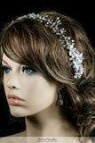 Estella Flower Spray Silver Headband | Swarovski Crystal - Beloved Sparkles  - 5